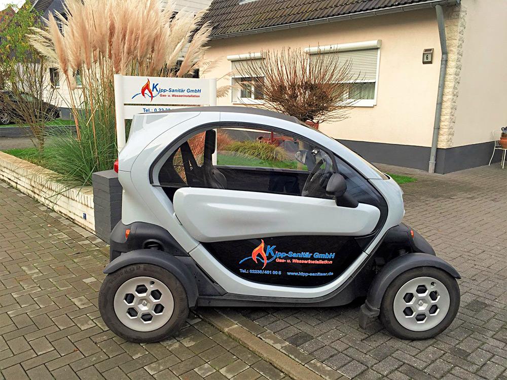 Kipp-Sanitär Renault Twizy Umwelt